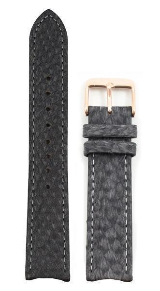 bergwatches 20 MM Strap Grey Rose Gold 20 MM Salmon Leather Strap