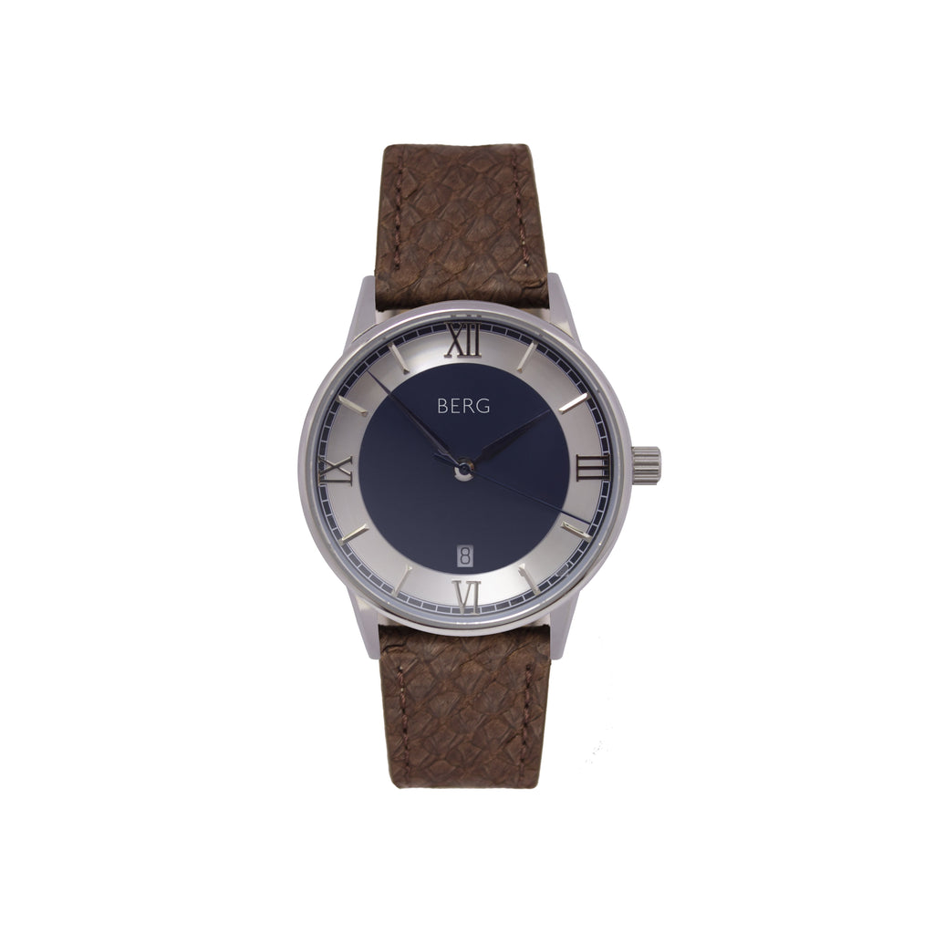 bergwatches Brown HOLMENKOLLEN BLUE QUARTZ