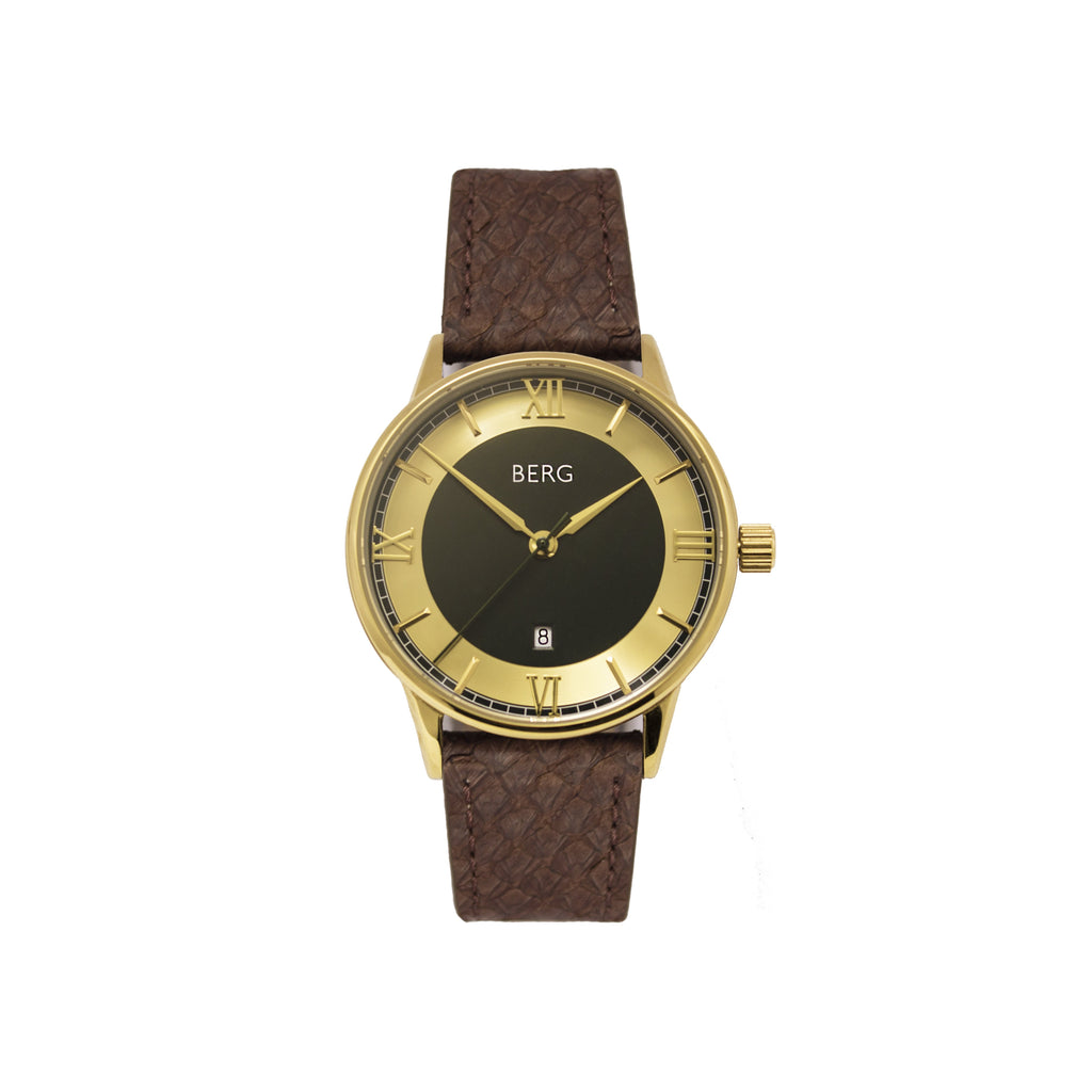 bergwatches Brown HOLMENKOLLEN GREEN AUTOMATIC