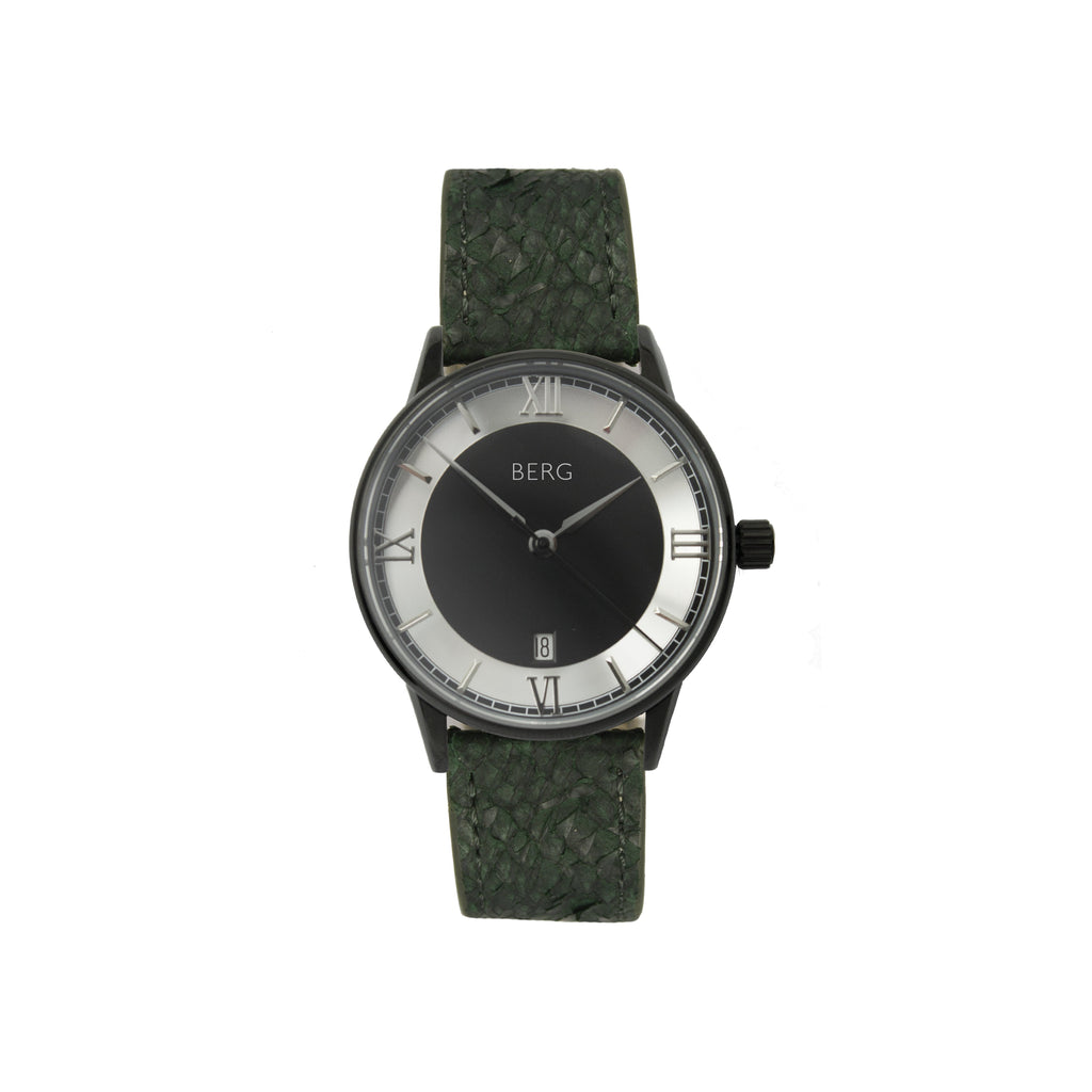 bergwatches Green HOLMENKOLLEN BLACK AUTOMATIC