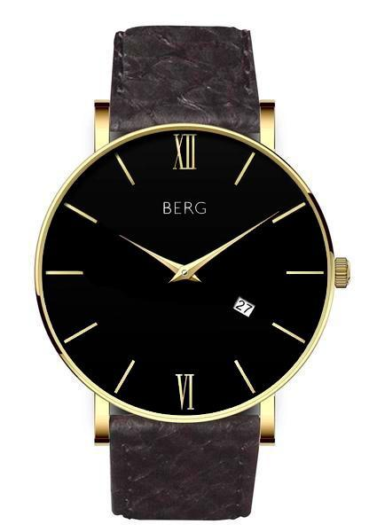 bergwatches Mens watches Black Ulriken Black Gold 40 MM
