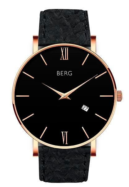 bergwatches Mens watches Black Ulriken Black Rose Gold 40 MM