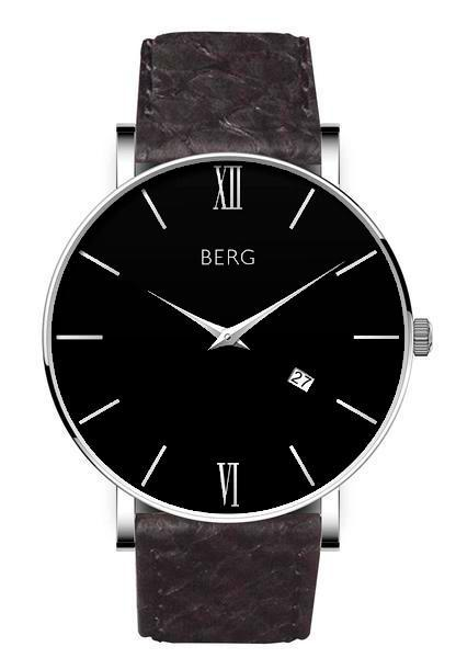 bergwatches Mens watches Black Ulriken Black Silver 40 MM