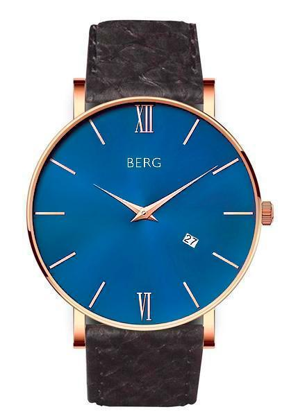 bergwatches Mens watches Black Ulriken Blue Rose Gold 40 MM