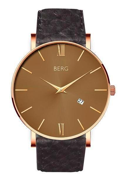 bergwatches Mens watches Black Ulriken Brown Rose Gold 40 MM