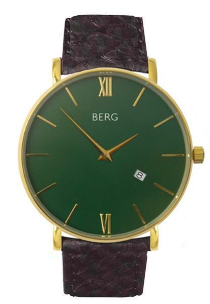 bergwatches Mens watches Black Ulriken Green Gold 40 MM