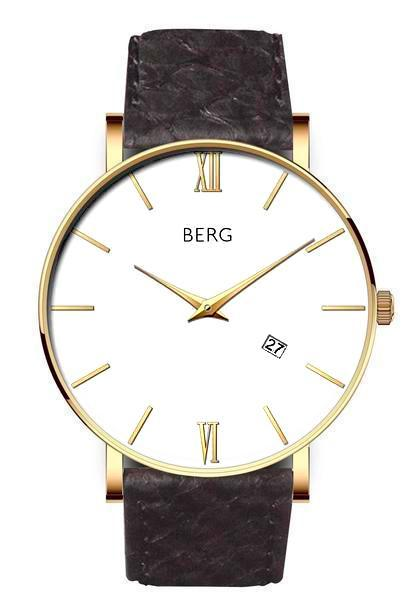 bergwatches Mens watches Black Ulriken White Gold 40 MM
