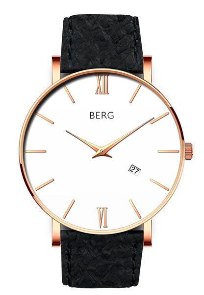 bergwatches Mens watches Black Ulriken White Rose Gold 40 MM