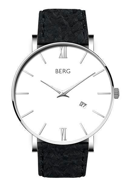 bergwatches Mens watches Black Ulriken White Silver 40 MM