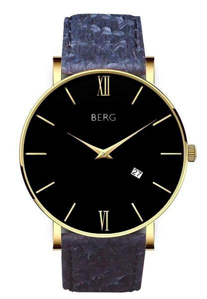 bergwatches Mens watches Blue Ulriken Black Gold 40 MM