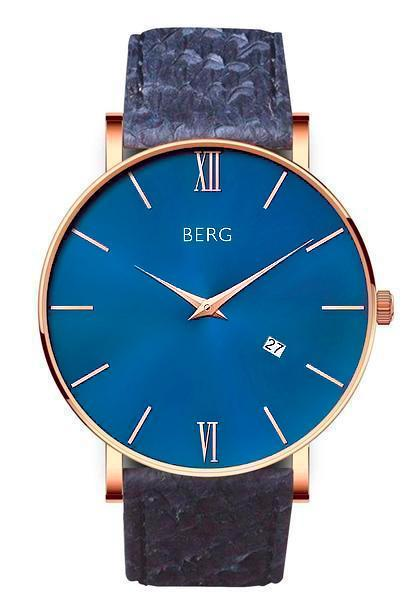 bergwatches Mens watches Blue Ulriken Blue Rose Gold 40 MM