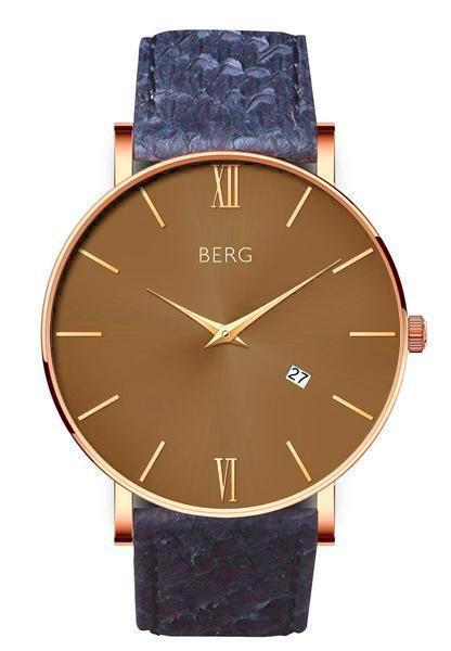 bergwatches Mens watches Blue Ulriken Brown Rose Gold 40 MM