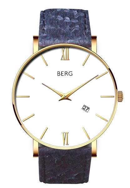 bergwatches Mens watches Blue Ulriken White Gold 40 MM