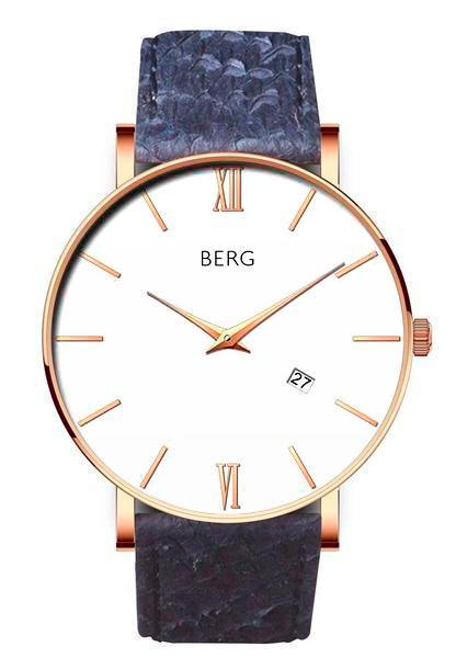 bergwatches Mens watches Blue Ulriken White Rose Gold 40 MM