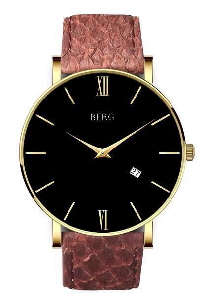 bergwatches Mens watches Brown Ulriken Black Gold 40 MM