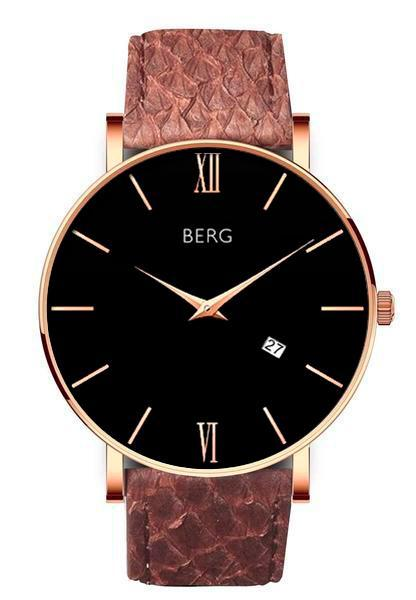 bergwatches Mens watches Brown Ulriken Black Rose Gold 40 MM