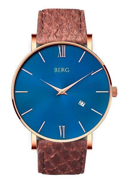 bergwatches Mens watches Brown Ulriken Blue Rose Gold 40 MM