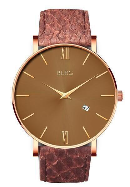 bergwatches Mens watches Brown Ulriken Brown Rose Gold 40 MM