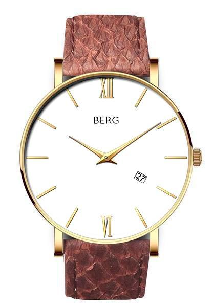 bergwatches Mens watches Brown Ulriken White Gold 40 MM