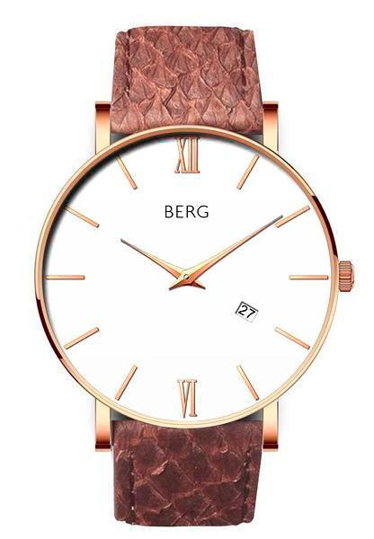 bergwatches Mens watches Brown Ulriken White Rose Gold 40 MM