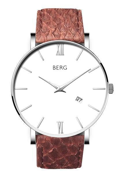 bergwatches Mens watches Brown Ulriken White Silver 40 MM