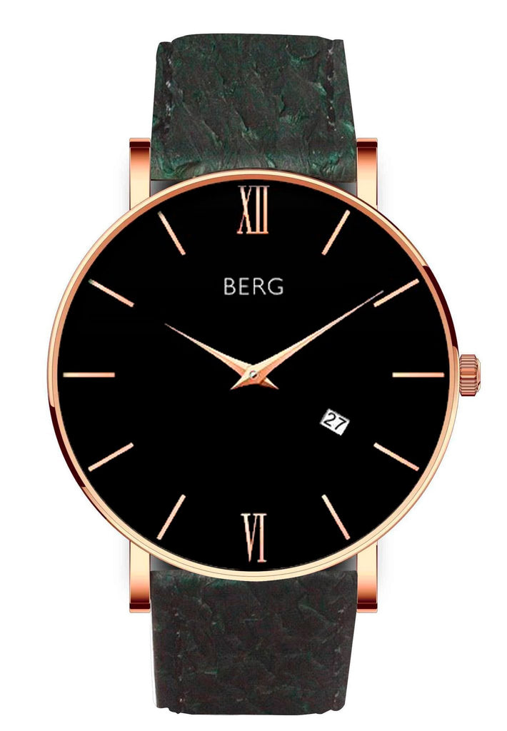 bergwatches Mens watches Green Ulriken Black Rose Gold 40 MM