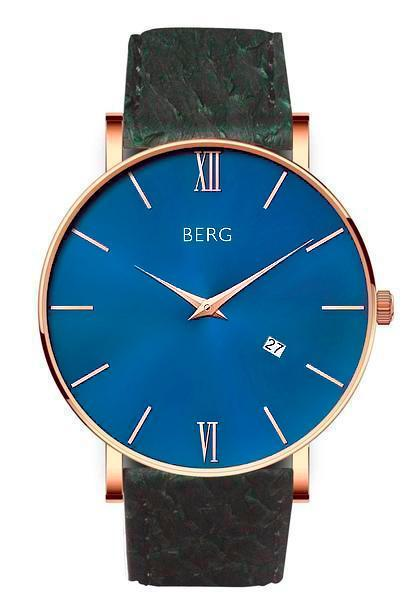 bergwatches Mens watches Green Ulriken Blue Rose Gold 40 MM