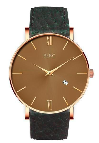 bergwatches Mens watches Green Ulriken Brown Rose Gold 40 MM