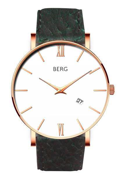 bergwatches Mens watches Green Ulriken White Rose Gold 40 MM