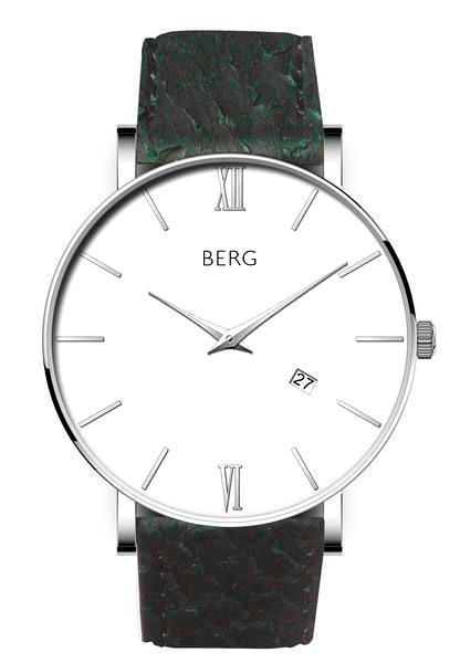 bergwatches Mens watches Green Ulriken White Silver 40 MM