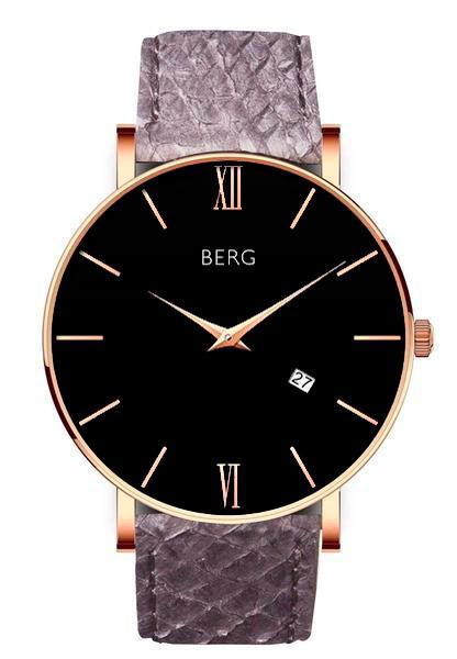 bergwatches Mens watches Grey Ulriken Black Rose Gold 40 MM