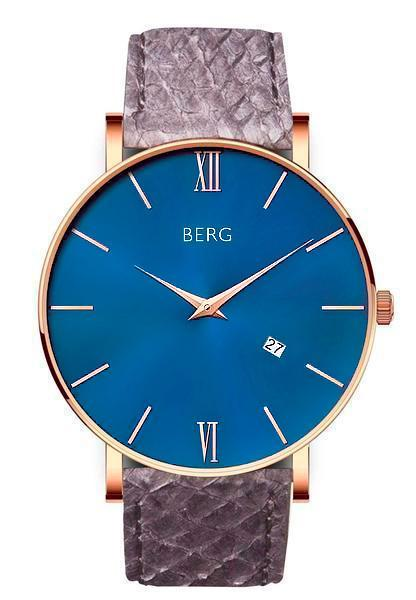 bergwatches Mens watches Grey Ulriken Blue Rose Gold 40 MM