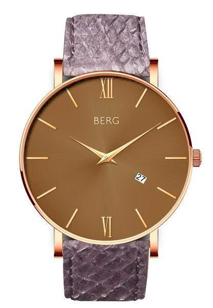 bergwatches Mens watches Grey Ulriken Brown Rose Gold 40 MM