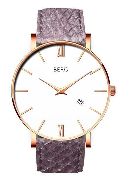 bergwatches Mens watches Grey Ulriken White Rose Gold 40 MM