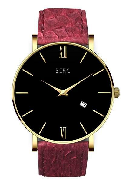 bergwatches Mens watches Oxblood Red Ulriken Black Gold 40 MM