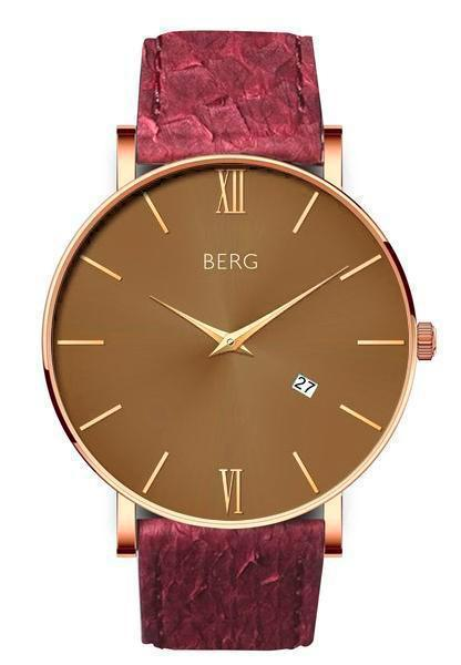 bergwatches Mens watches Oxblood Red Ulriken Brown Rose Gold 40 MM