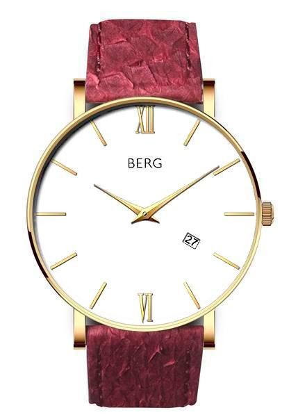 bergwatches Mens watches Oxblood Red Ulriken White Gold 40 MM