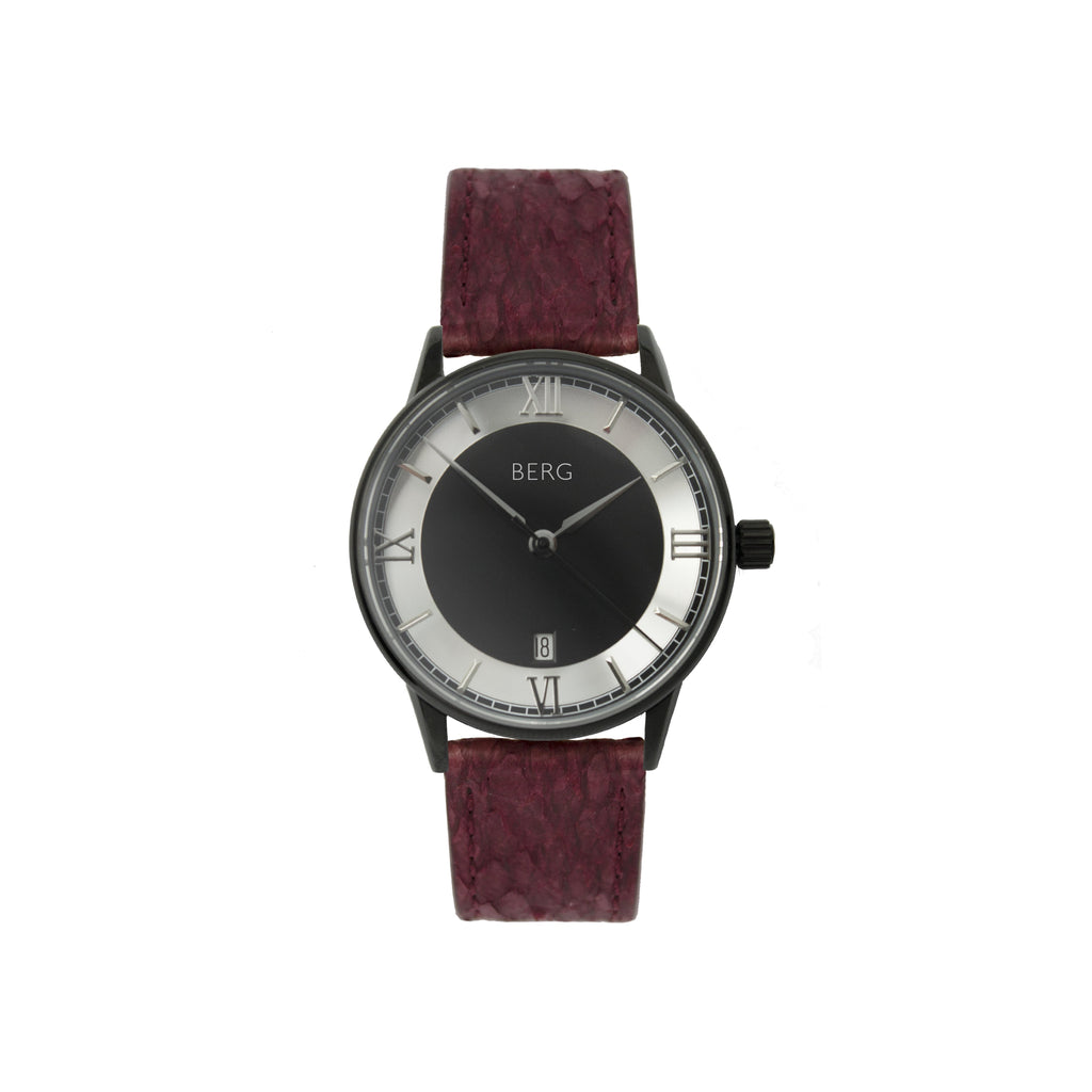 bergwatches Oxblood HOLMENKOLLEN BLACK AUTOMATIC