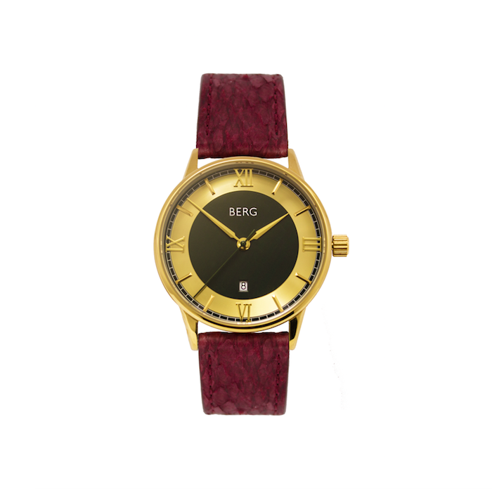 bergwatches Oxblood HOLMENKOLLEN GREEN AUTOMATIC