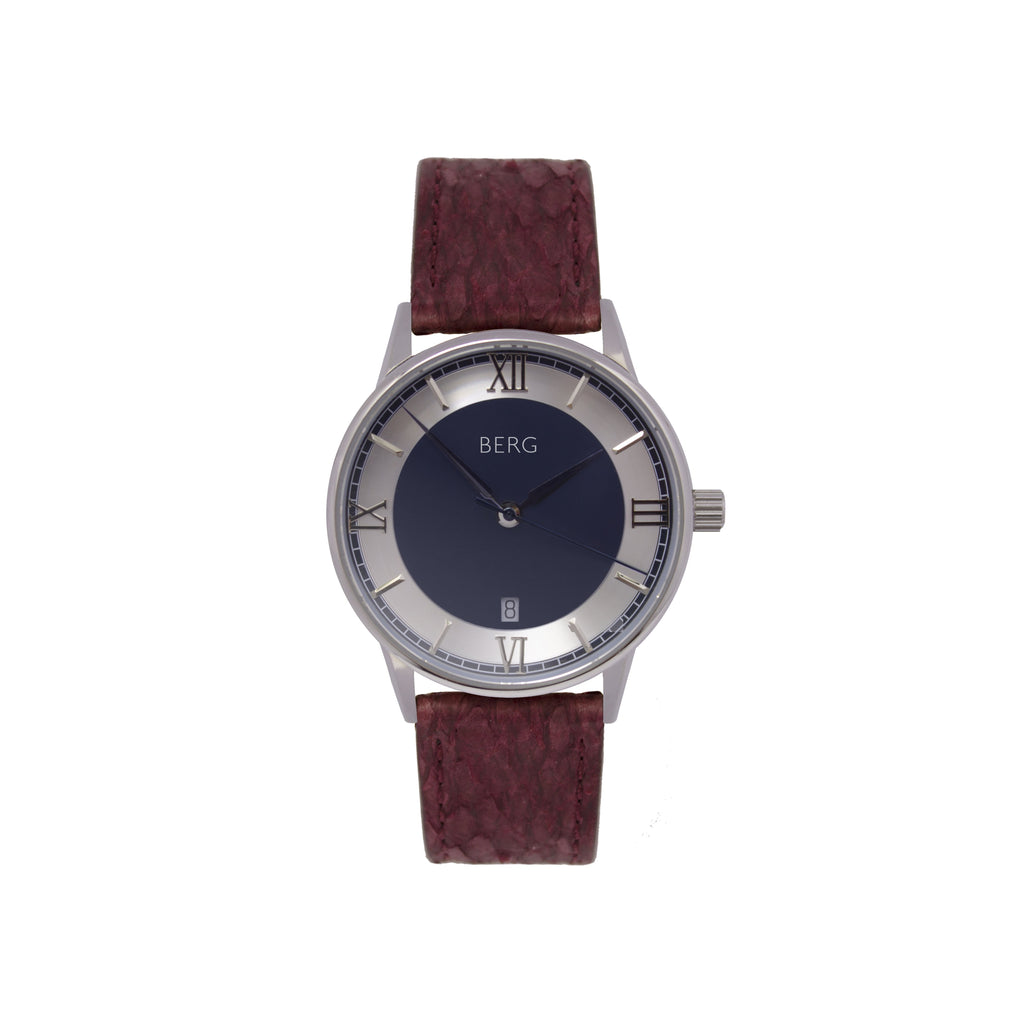 bergwatches Oxblood Red HOLMENKOLLEN BLUE QUARTZ