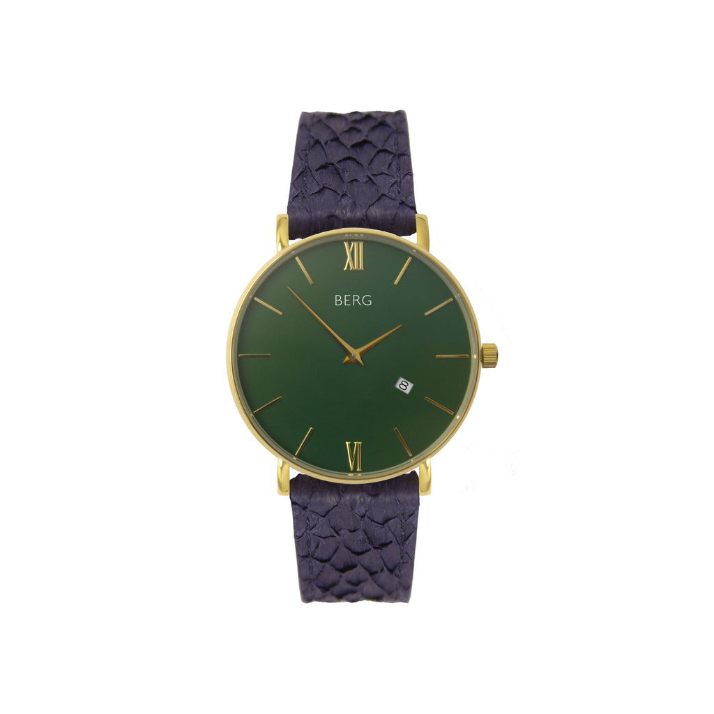bergwatches Womens watches Blue Ulriken Green Gold 36 MM