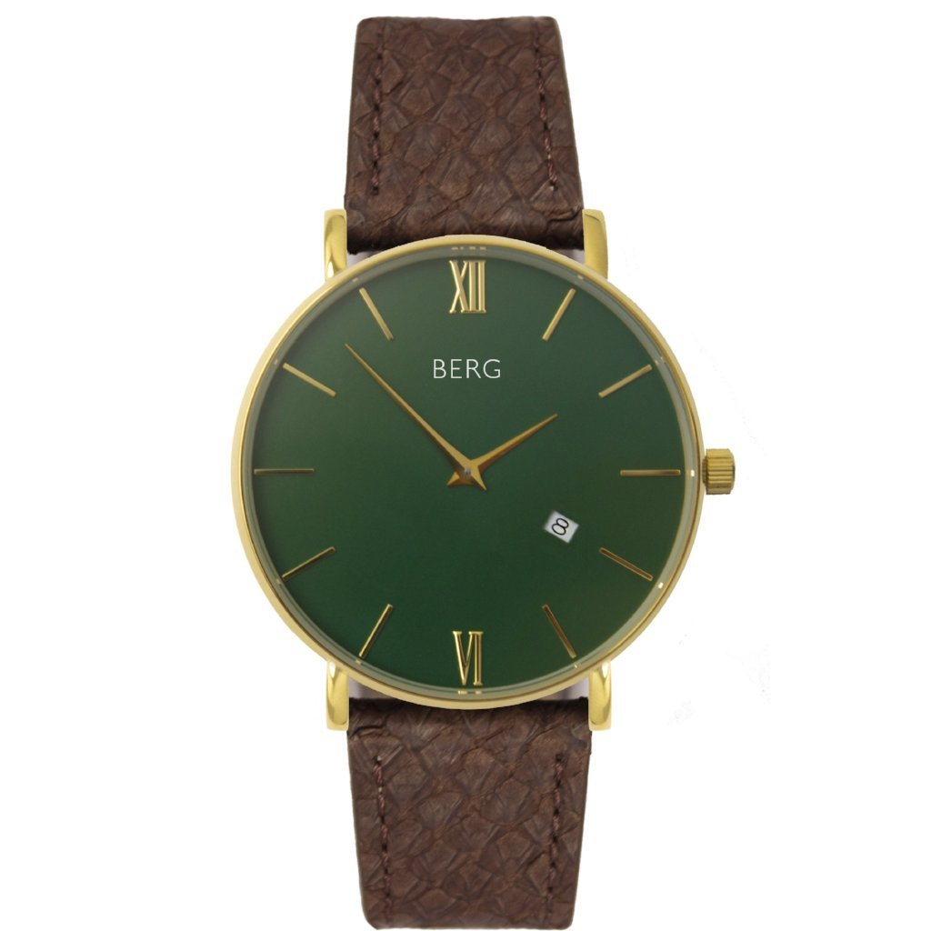 bergwatches Womens watches Brown Ulriken Green Gold 36 MM