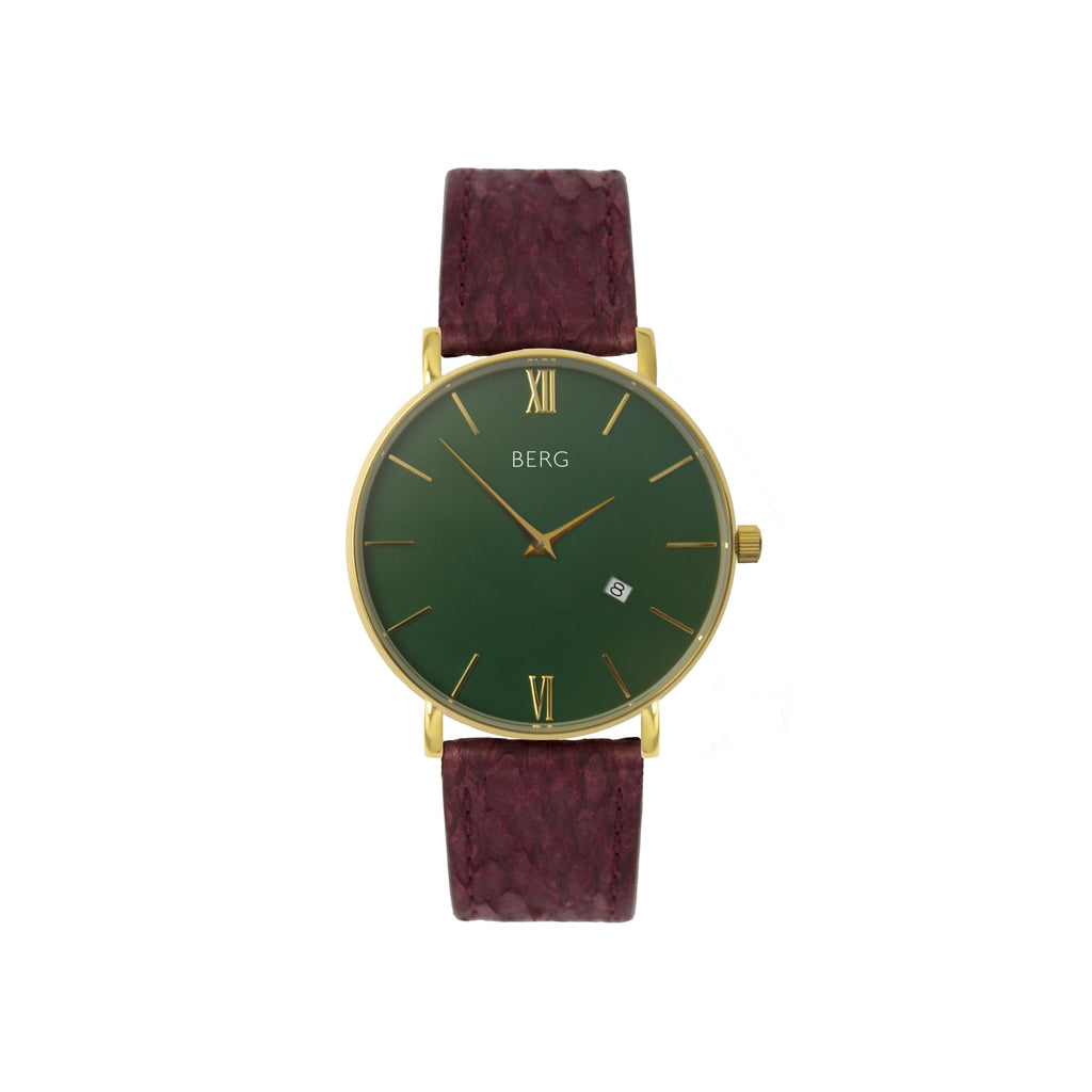 bergwatches Womens watches Oxblood Red Ulriken Green Gold 36 MM