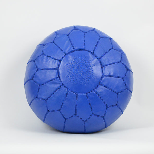 Moroccan Pouf Pouffe Royal Blue