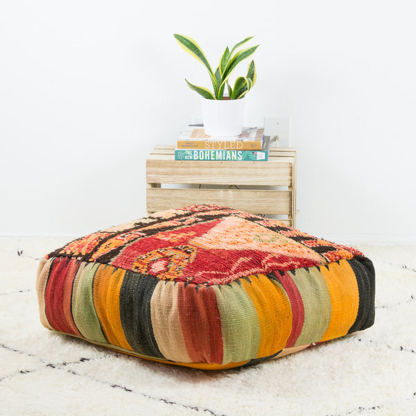 vintage kilim floor pillow cushion