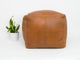 "15"" x 15"" SQUARE LEATHER MOROCCAN POUF, OTTOMAN, FOOTSTOOL - TAN"