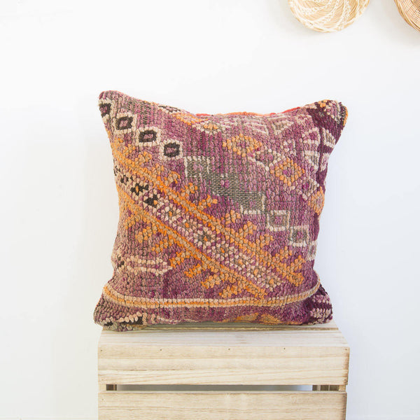 "17"" x 17"" Vintage Moroccan pillow cover"
