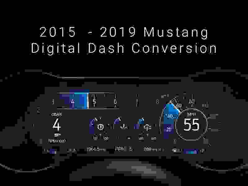 2015 - 2020 Mustang Digital Dash Plug 'n Play Conversion Kit Hellhorse Performance