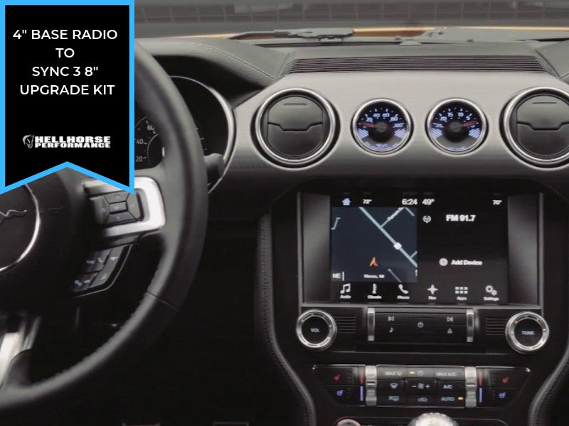 "2015-2020 Mustang 4"" to 8"" Touchscreen Conversion w/ SYNC 3 (15-20 Mustang) Hellhorse Performance"