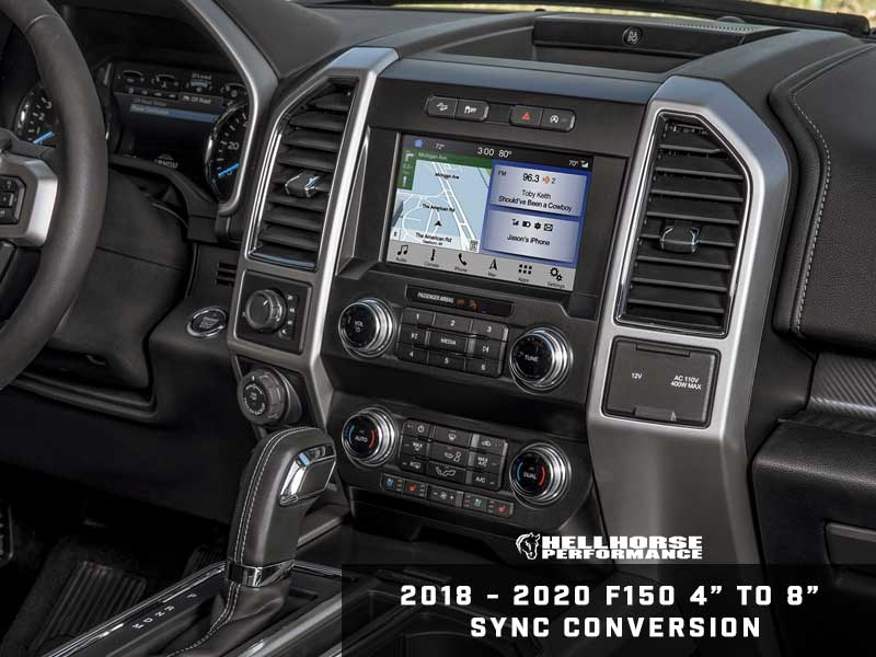 "2018-2020 F150 4"" to 8"" Touchscreen Conversion w/ SYNC 3 (18-20 F150) Hellhorse Performance"